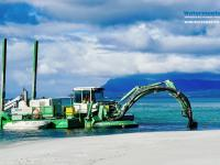 Amphibious Multipurpose Watermaster Dredging to Stabilise a river and Prevent floods, Australia.