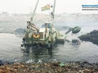 Amphibious Multipurpose Watermaster Dredging to Prevent floods and to Improve the ecological state of the waterways in Accra, Ghana.
