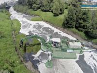 Amphibious Multipurpose Watermaster Dredger helps in Cleaning and Maintaining the Bogotá River, Colombia