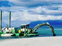 Amphibious Multipurpose Watermaster Dredging to Stabilise a river and Prevent floods, Australia