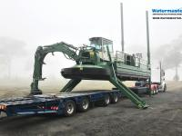 The Amphibious Multipurpose Watermaster Dredger is ready for work