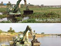 Watermaster dredger restoring and maintaining waterways in Chennai